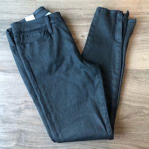 Joe's Jeans Ankle Zip Black Coated Skinny Jeans